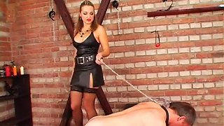 dude gets spanked by mistress