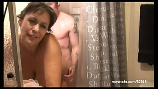 Mom son in shower