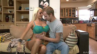 Luscious Nikita Von James gets grabbed and pounded from behind