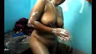 Massively fat Indian auntie loved to bath naked in front of the camera