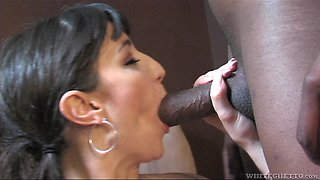 Natalie Minx is a nasty brunette who wants to feel a BBC
