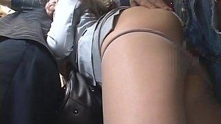 Sweet Japanese traveller Azumi Mizushima gets fucked on a Tokyo train