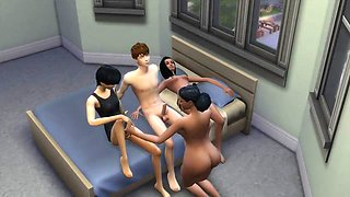 Sims 4 Bisexual family