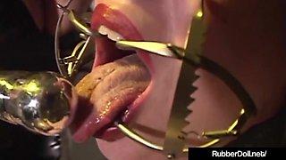 Latex Lover RubberDoll Performs Crazy Bondage On Mina Meow!
