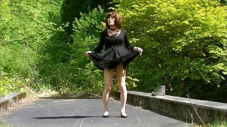 Sexretary Pai-chan Outdoor Crossdresser
