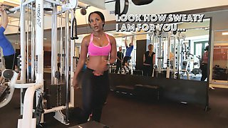 Fit girl saw me filming her in gym