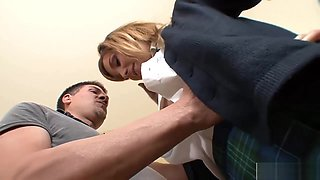 Horny Schoolgirl Gets Fucked In Various Positions