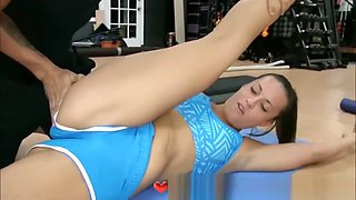 Cock Hungry Teen Friends Screwing Gym Instructor At Yoga