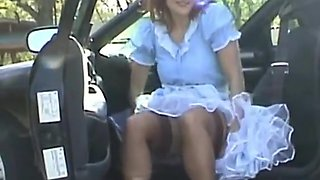 Fabulous Japanese whore in Crazy Upskirt, Stockings JAV scene
