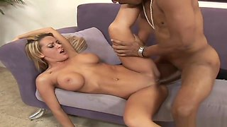 Blond Milf Seduce To Fuck By Black With Huge Penis