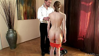 Kinky guy likes to spank Lolly Cat more than anything else