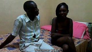 African exgirlfriend leaked amateur video