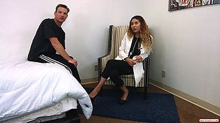 Horny doctor can't resist the temptation to fuck a patient