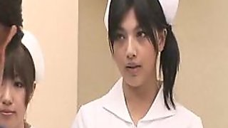 Gorgeous Japanese Nurse Sure Knows How To Handle Their Patients' Cocks