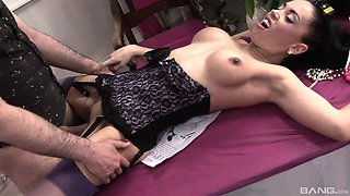 Dick craving brunette wants to be fucked by a hunk