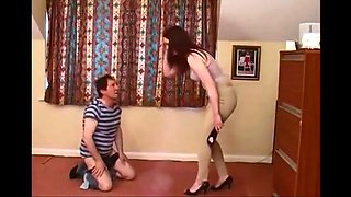 Strict Young Mistress give a good Spanking at home