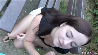 18yr old GERMAN TEEN EMMA caught Public and Seduce to Fuck
