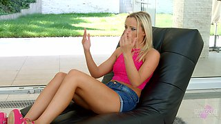 Victoria Pure is a leggy blonde who wants to share her sex stories