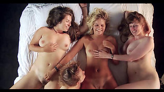 Four beauties making each other cum
