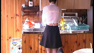 FRENCH SKINNY HAIRY MAID CONFORTS HOMEOWNER