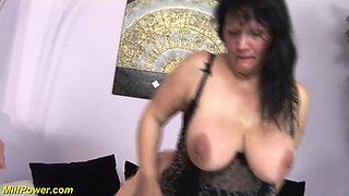 bbw moms first double penetration