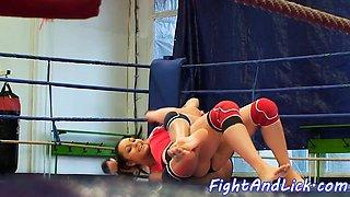 Amateur eurobabes wrestling and kissing