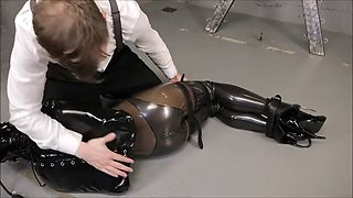Latex bondage girl