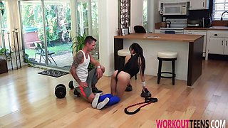jade kush in hardcore sex with trainer
