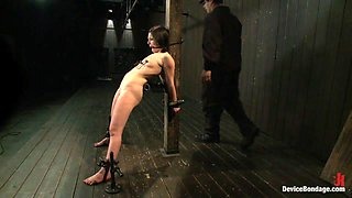 Juliette March in Pretty gets punished - double penetration and made to squirt into exhaustion - DeviceBondage