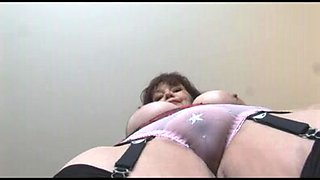 Large breasts older secretary teases and toys