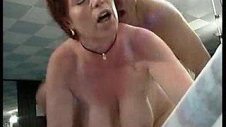 Sexy big tits aunt fuck