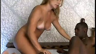 Black stud undresses charming Vanessa and eats her twat in 69 position