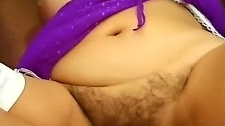 Hot and busty white lady enjoys getting gangbanged in her bedroom