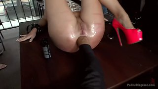 isabella clark gets dp fucked and fisted in public in the middle of a day