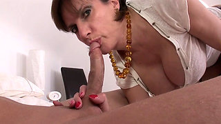 British cougar with her young lover