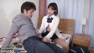 Japanese big tits 18yo schoolgirl fucked hard