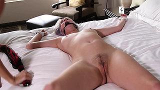 Sisters both enjoy their bondage bitch