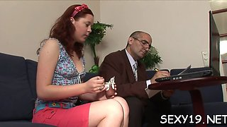 delighting an old teacher amateur video 6