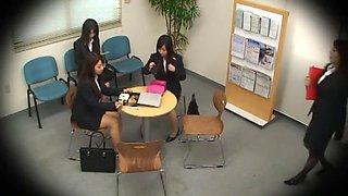 Crazy Japanese chick Ryo Asaka, Ai Naoshima, Aoi Buruma in Exotic Amateur, Office JAV scene