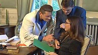 Threesome with secretary
