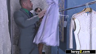 LEROYZ - Bride Gets an Anal Creampie at Dressing Fitting