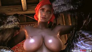 All natural redhead Triss gets hammered well by cock