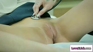 Nurse loves licking patient wet pussy