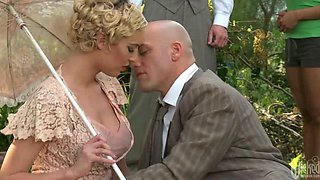 Picnic Sex With Blonde Victoria White In Lingerie