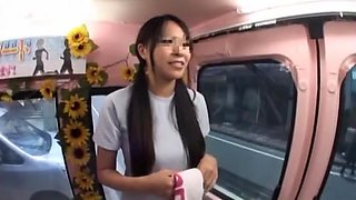 Crazy Japanese girl in Hottest Bus JAV clip