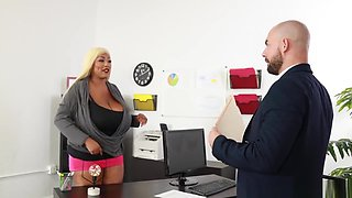 Africa Sexxx Fucks Her Boss and Takes Load of Cum On Huge Tits