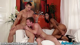 doghouse bisexual mmf anal and blowing