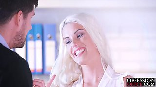 busty blonde blanches fuck swith kristof cale on office floor