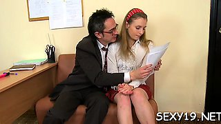 Lewd teacher is pounding fascinating playgirl senseless