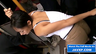 Beautiful Asian Teen On The Bus Japanese JAV